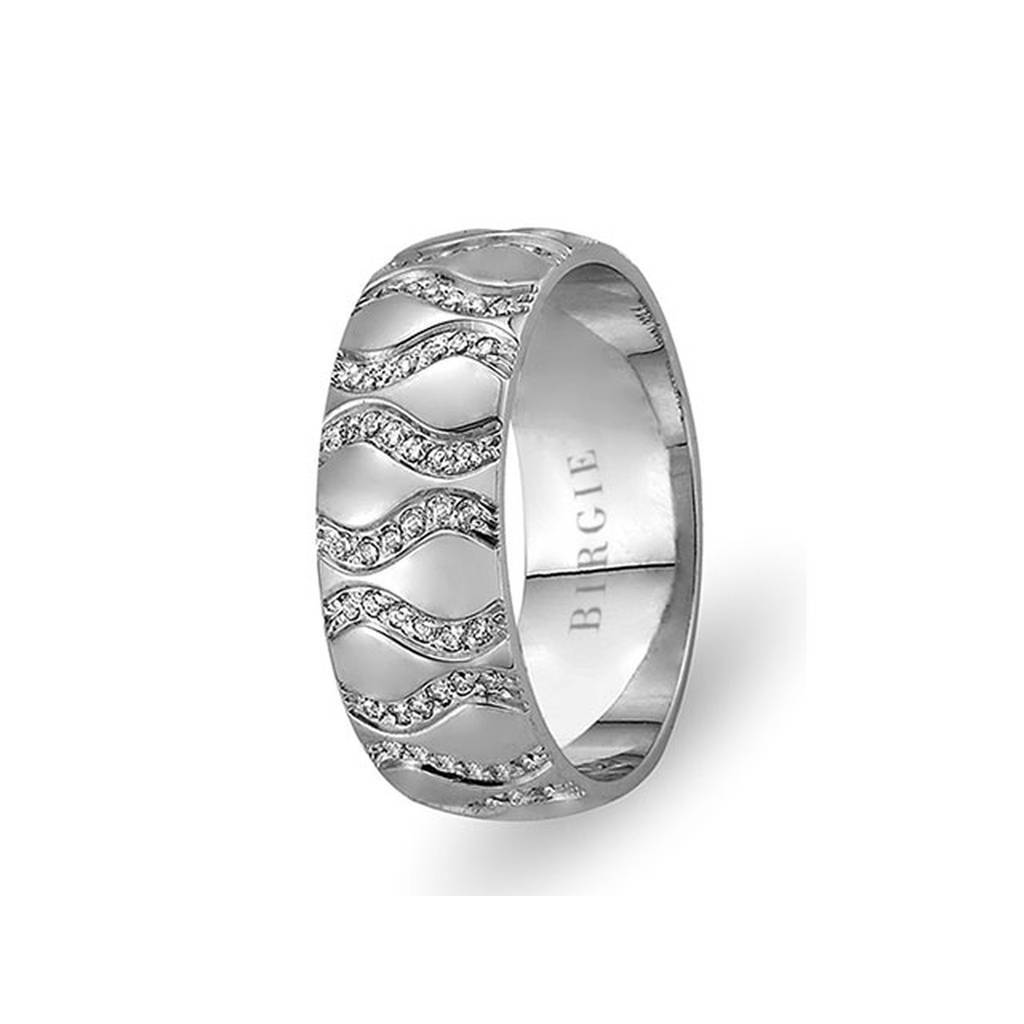 White Gold Akrep Wedding Band w/ Diamonds