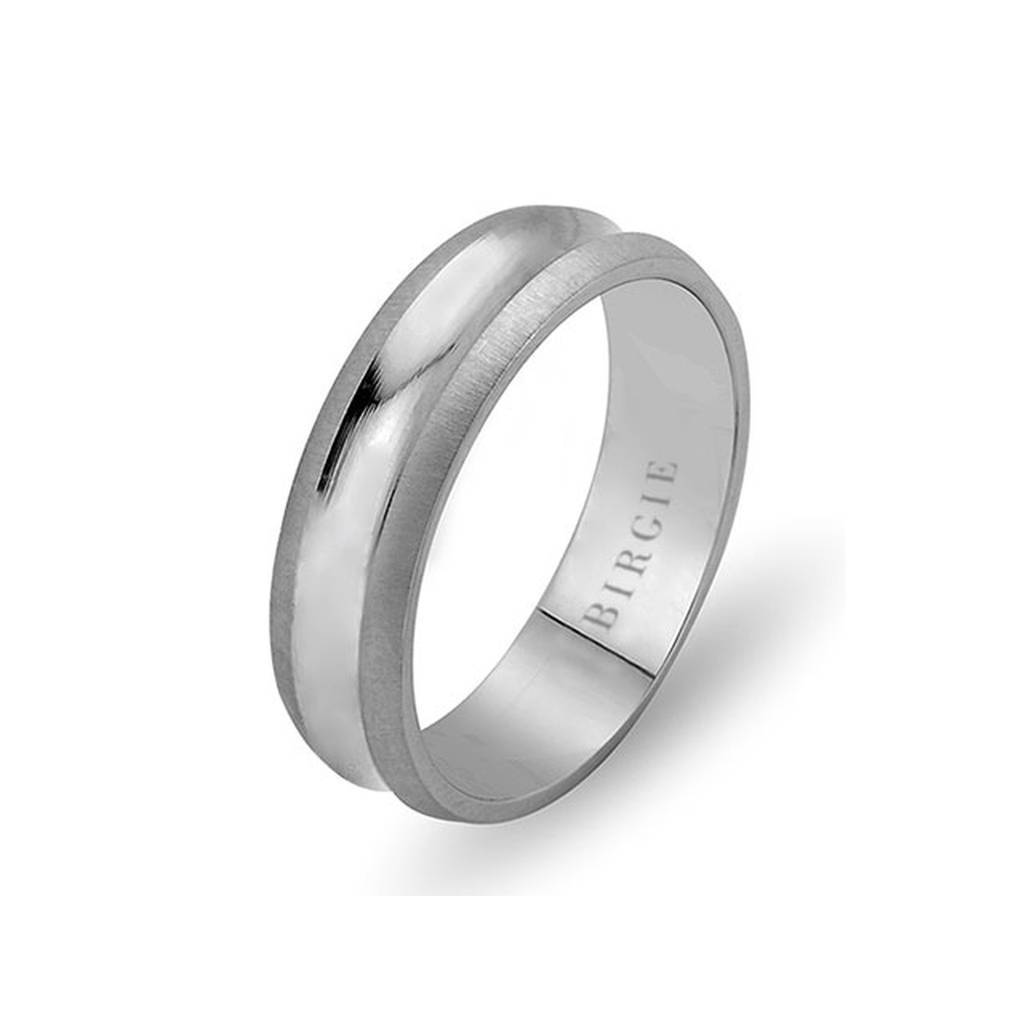 White Gold Delv Wedding Band