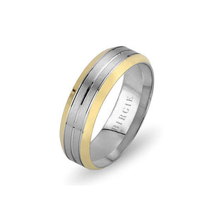 White and Yellow Gold Phuket Wedding Band