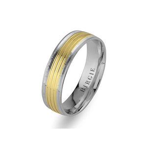 White and Yellow Gold Mauritus Wedding Band