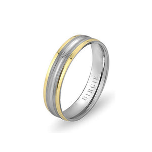 White and Yellow Gold Hava Wedding Band