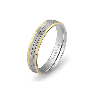 White and Yellow Gold Martinique Wedding Band