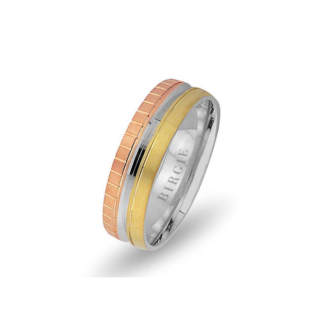 White and Yellow Gold Paris Wedding Band