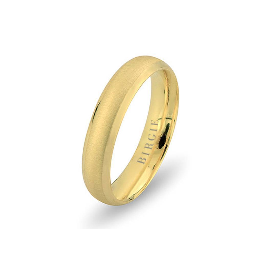 Yellow Gold Hawaii Matt Wedding Band