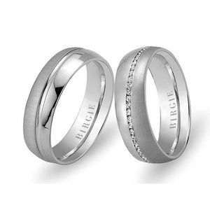 White Gold Florence Wedding Band w/ Diamonds