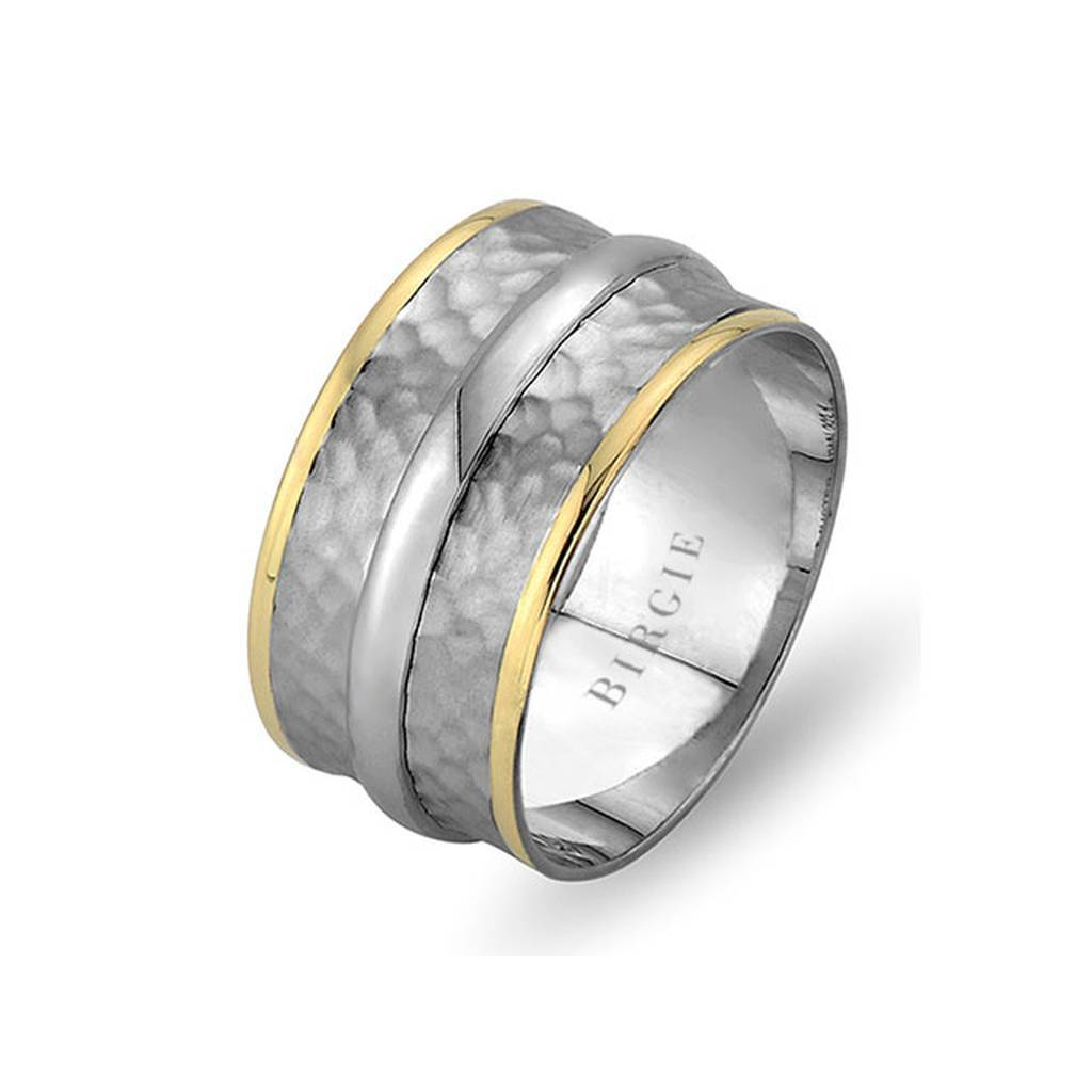 White and Rose Gold Sumerian Wedding Band