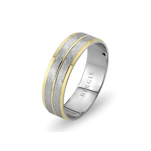 White and Yellow Gold Lydia Wedding Band