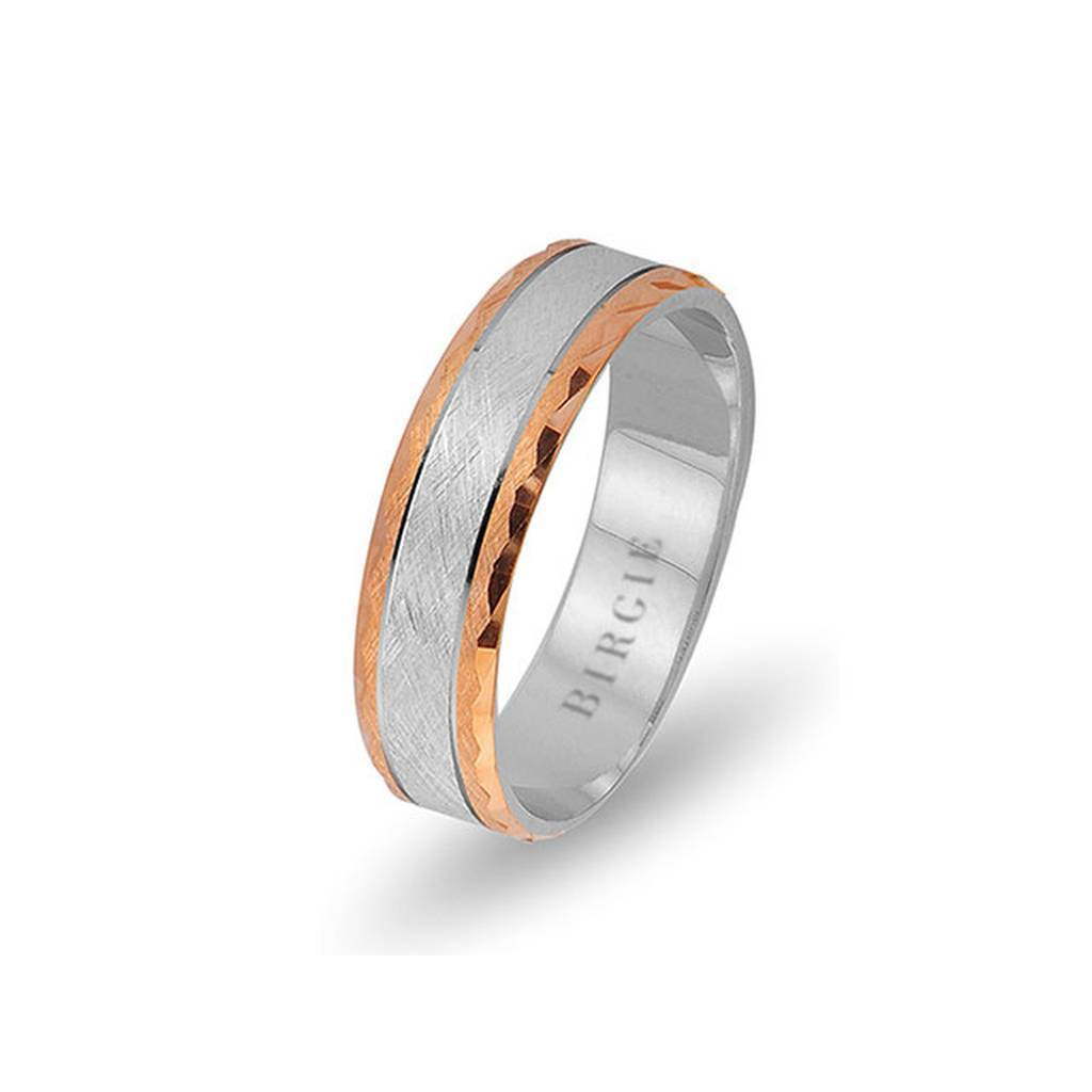 White and Rose Gold Ionia Wedding Band