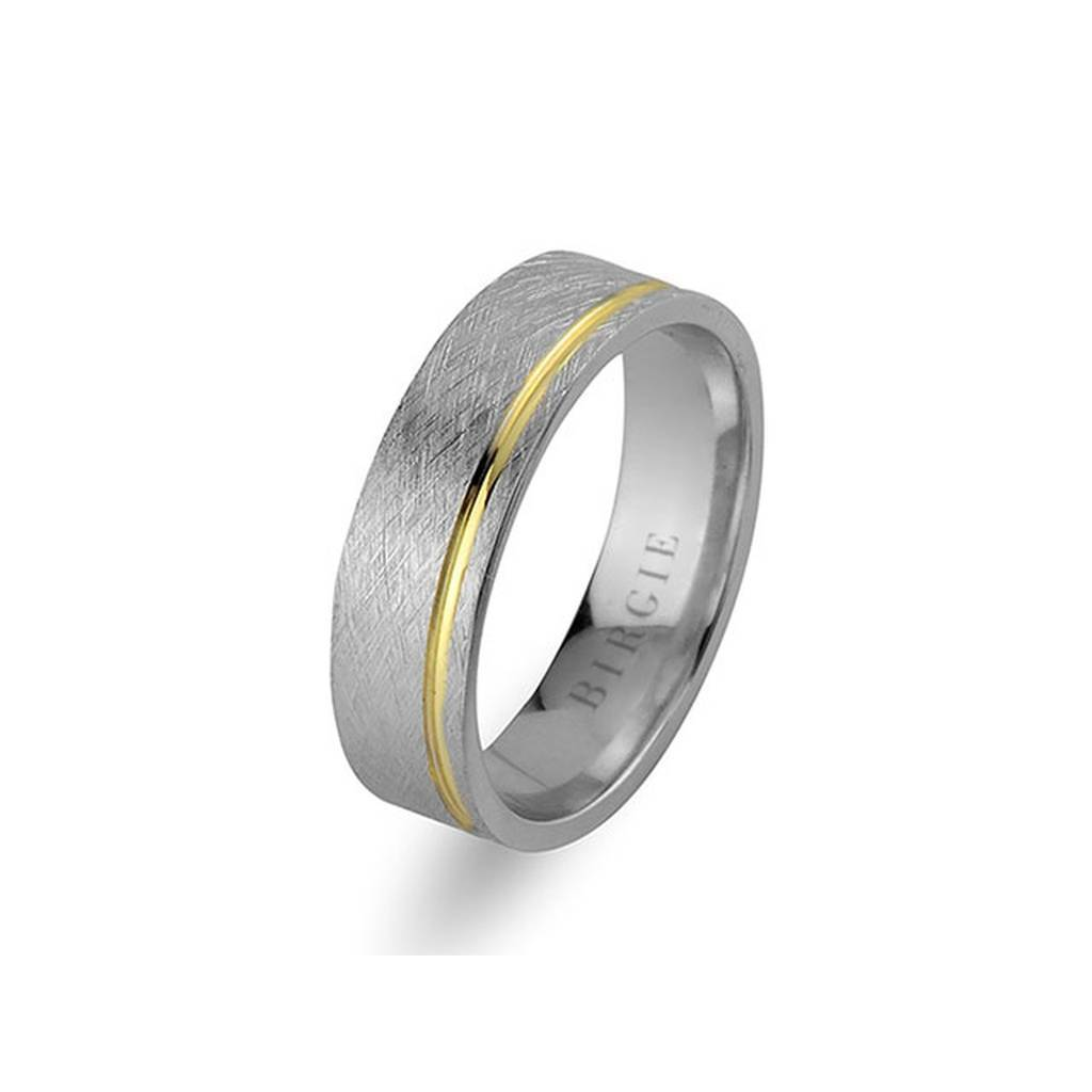 White and Yellow Gold Tarabya Wedding Band
