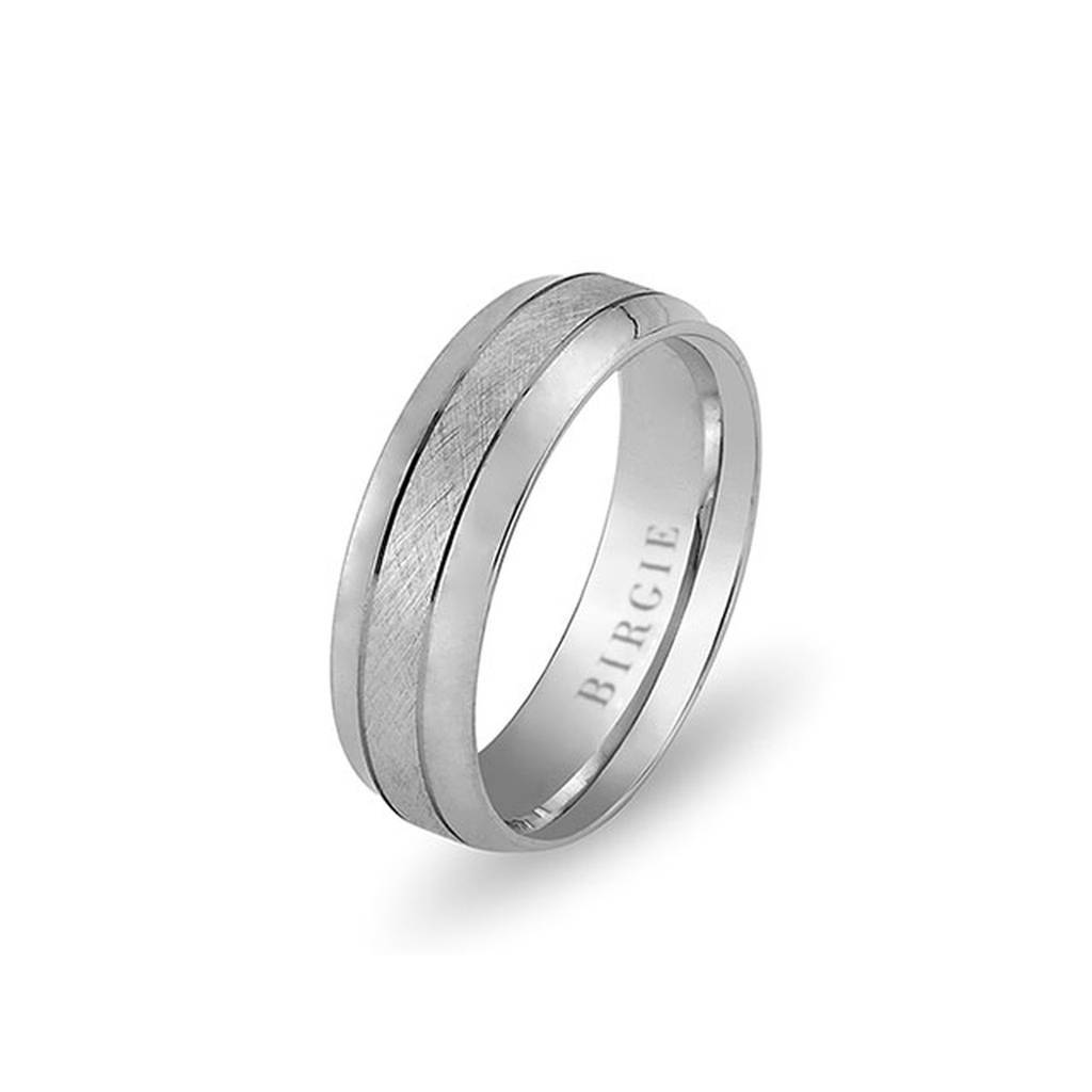 White Gold Ayazma Wedding Band w/ Diamonds