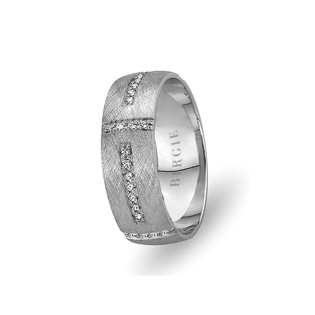 White Gold Beykoz Wedding Band w/ Diamonds
