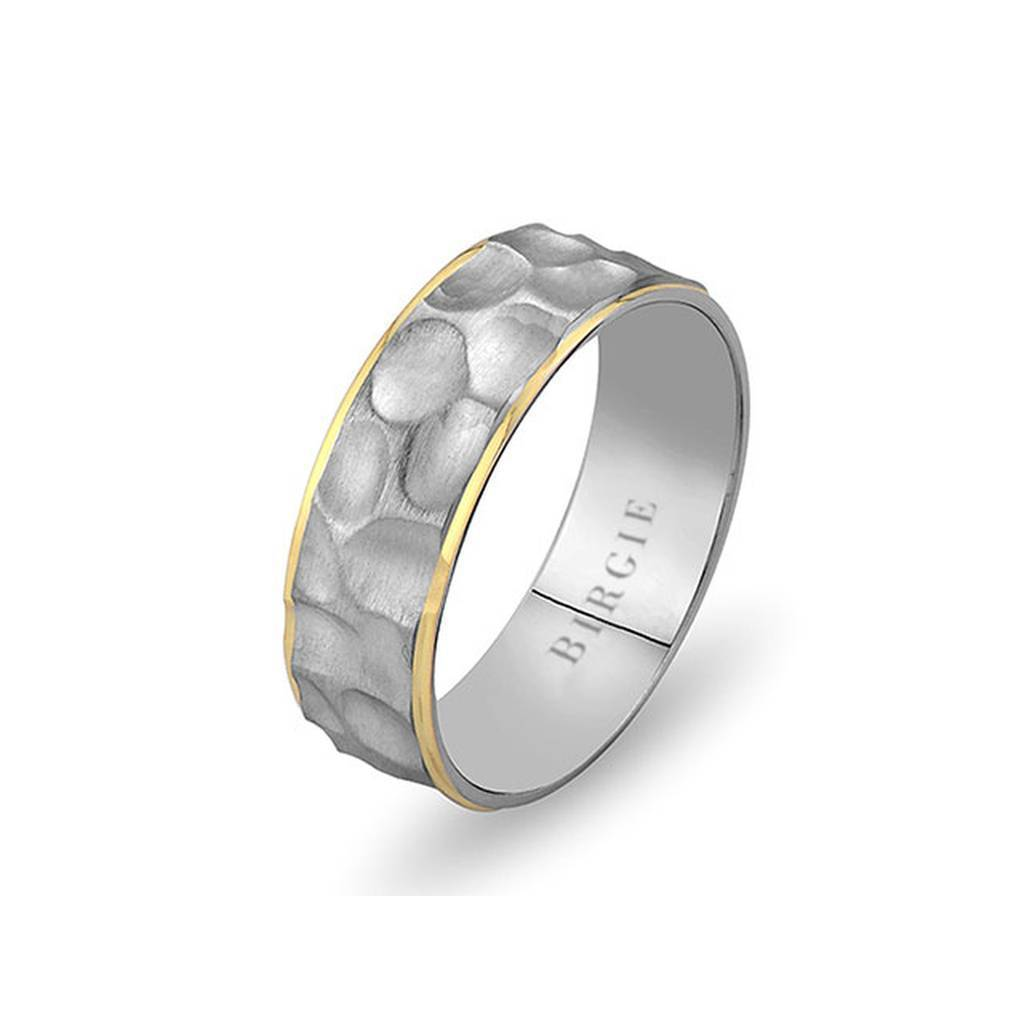 White and Yellow Gold Emirgan Wedding Band