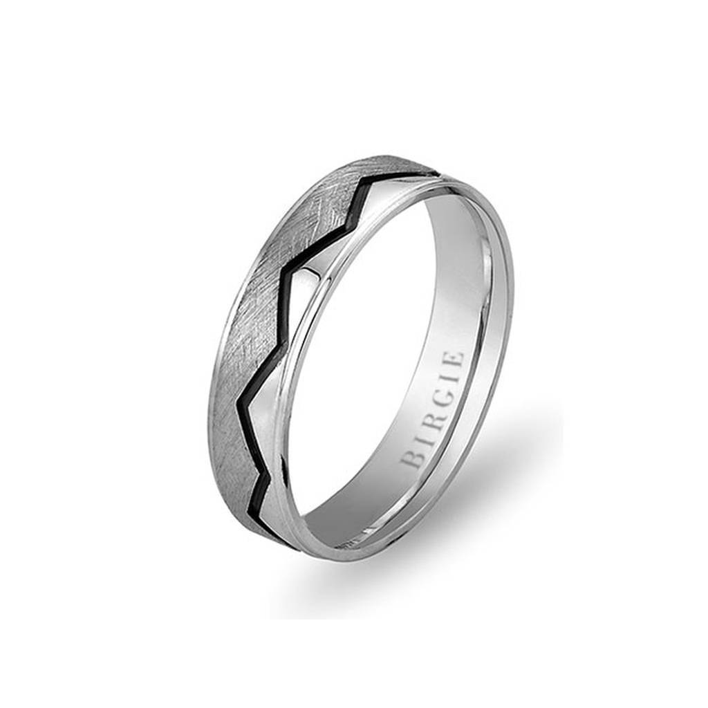 White Gold 2 Coloured Pera Wedding Band