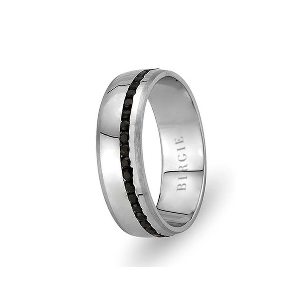 White Gold Balat Wedding Band w/ Diamonds