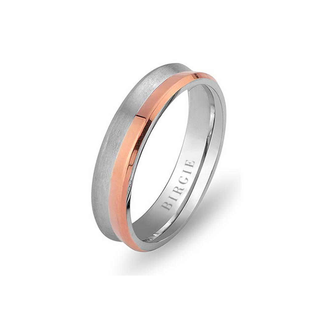 White and Rose Gold Beyazit Wedding Band