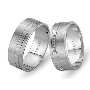 White Gold Harem Wedding Band w/ Diamonds