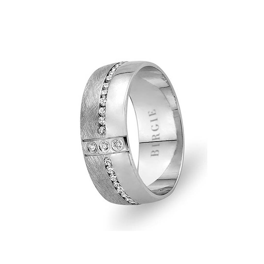 White Gold Eyup Wedding Band w/ Diamonds