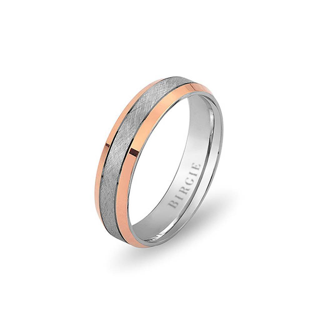 White and Rose Gold Huma Wedding Band