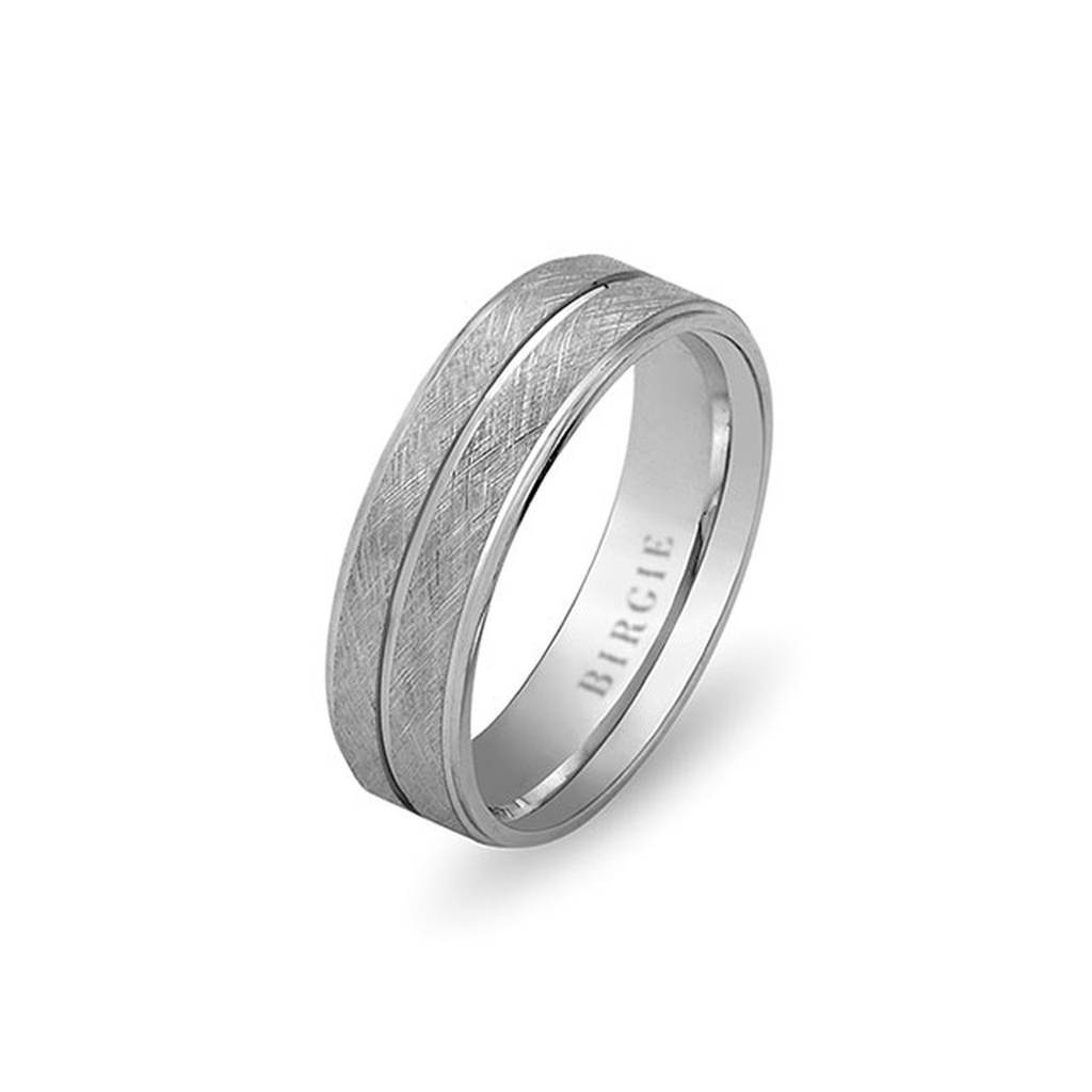 White Gold Gulbahar Matt Wedding Band