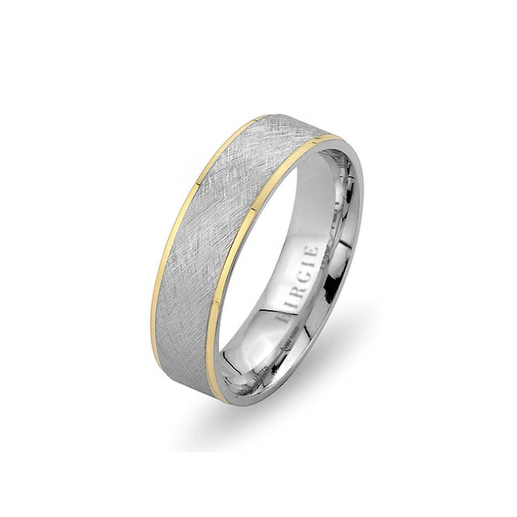 White and Yellow Gold Nigar Wedding Band