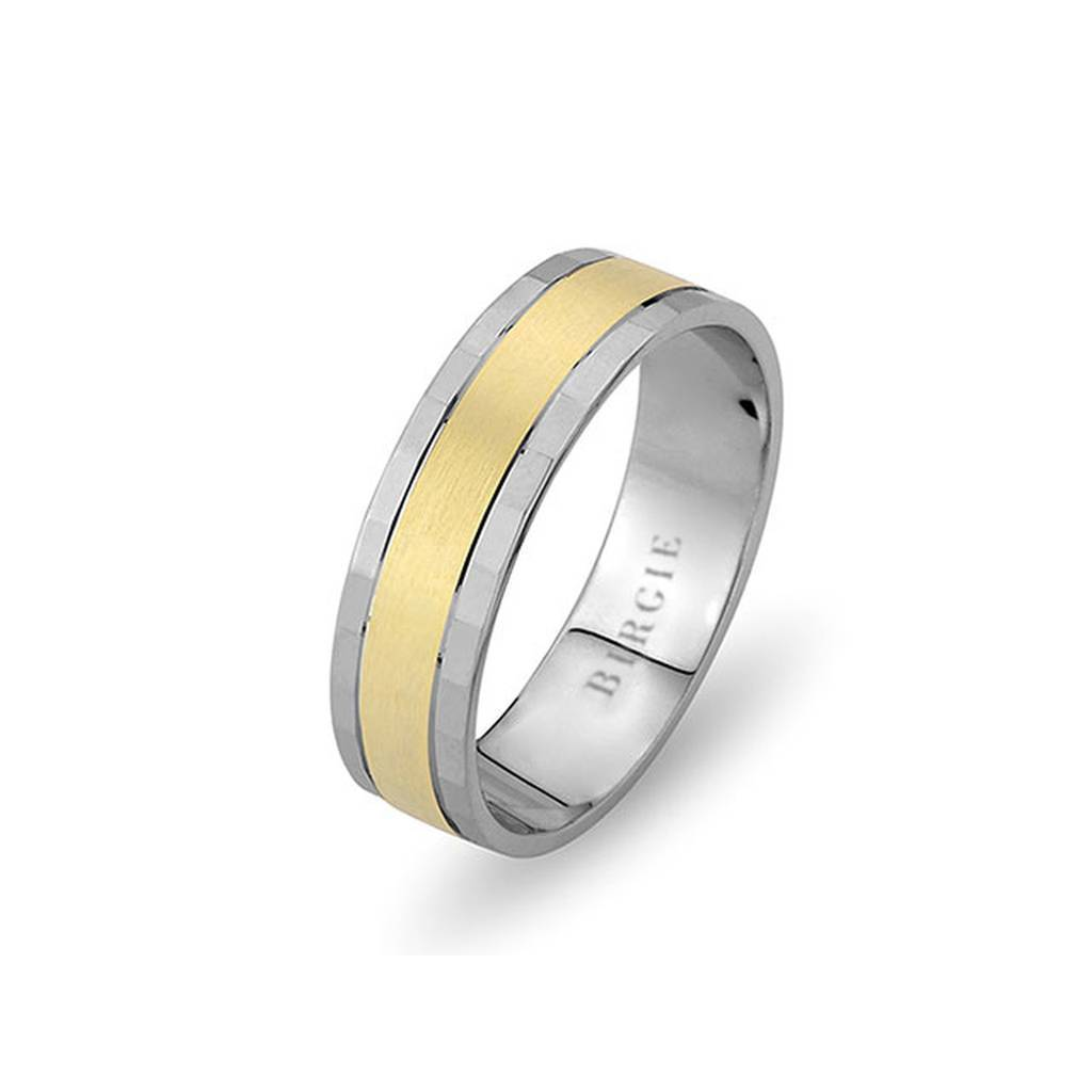 White and Yellow Gold Gulfem Wedding Band