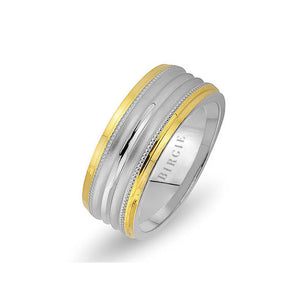 White and Rose Gold Gevheri Wedding Band