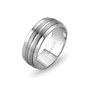White Gold Nefi Wedding Band