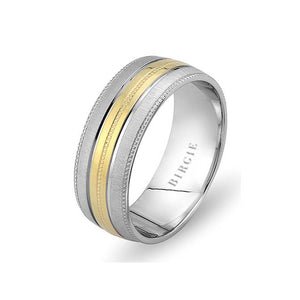 White and Yellow Gold Wedding Band