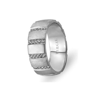 White Gold Dehhani Wedding Band w/ Diamonds