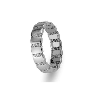 White Gold Misya Wedding Band w/ Diamonds