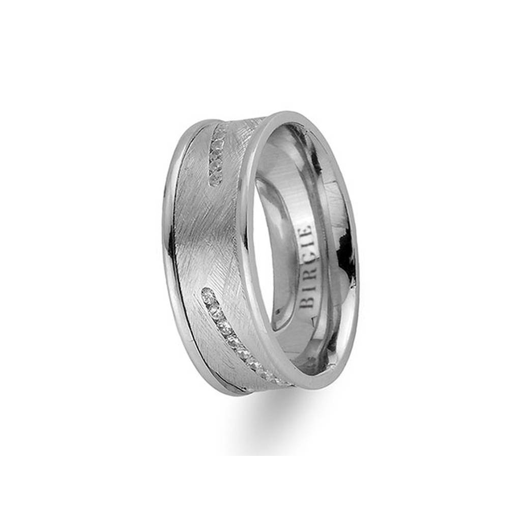 White Gold Samarkand Wedding Band w/ Diamonds