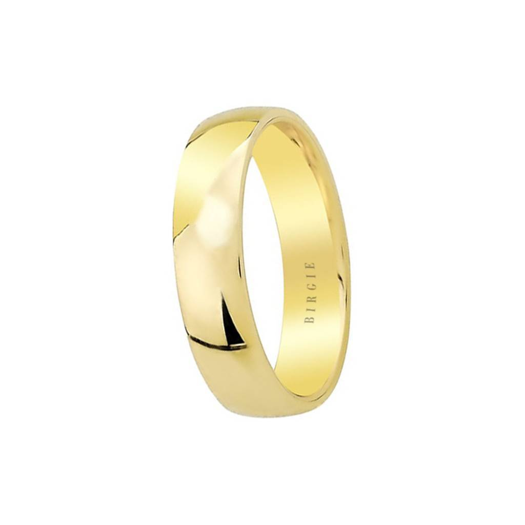 Yellow/White Gold Convex Classical Wedding Band