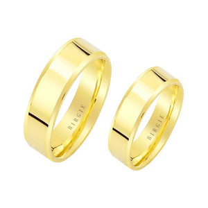 Yellow/White Gold Flat Classical Wedding Band