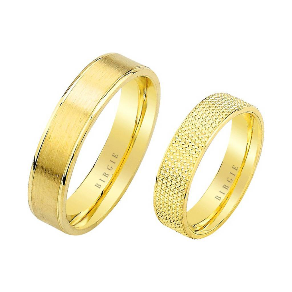Yellow Gold Flat Matt Classical Wedding Band