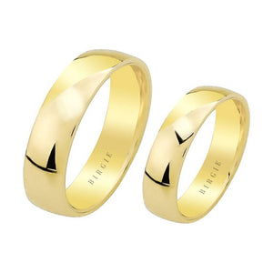 Yellow Gold Convex Classical Wedding Band