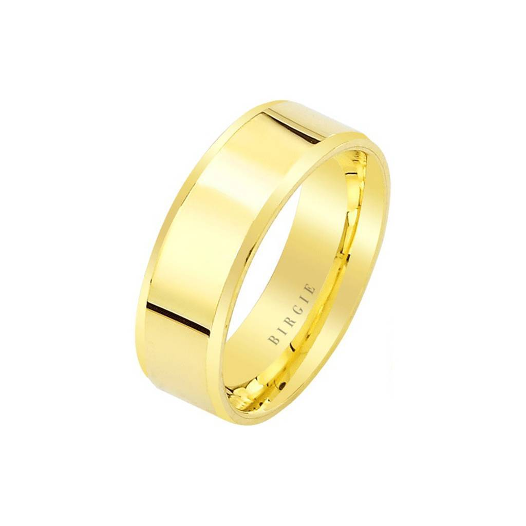 Yellow Gold Flat Classical Wedding Band