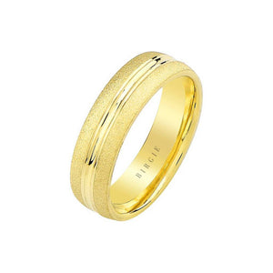 Yellow Gold Grooved Classical Wedding Band