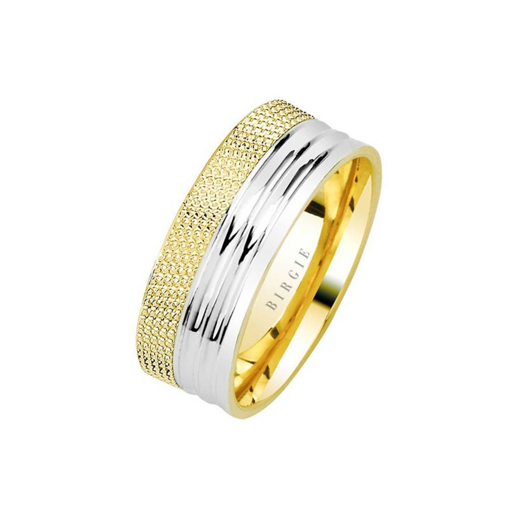 Yellow and White Gold Narmanli Wedding Band
