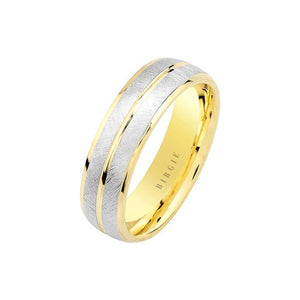 White and Yellow Gold Ren Wedding Band