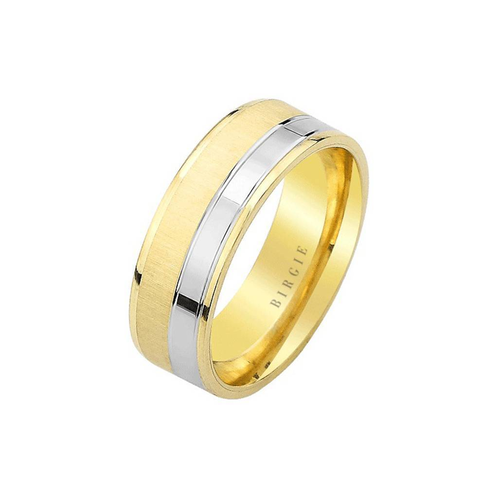 White and Yellow Gold Ishtar Wedding Band