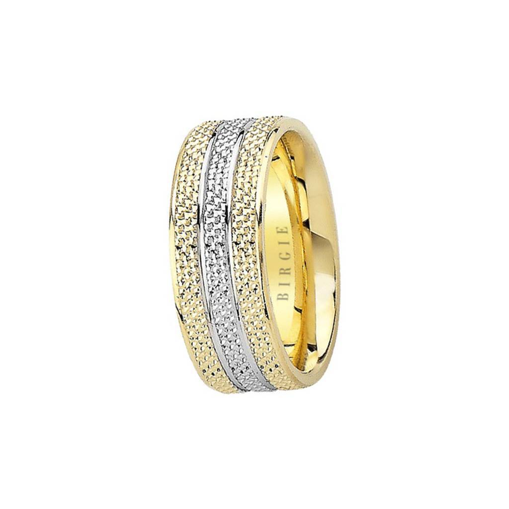 White and Yellow Gold Vena Amoris Wedding Band