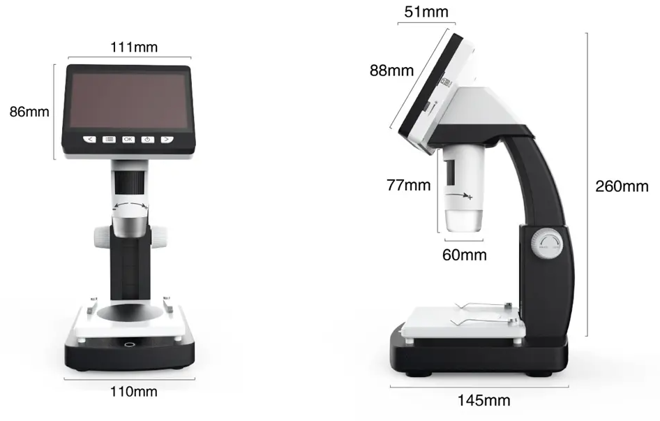The Portable Desktop Digital Microscope with LED Lights