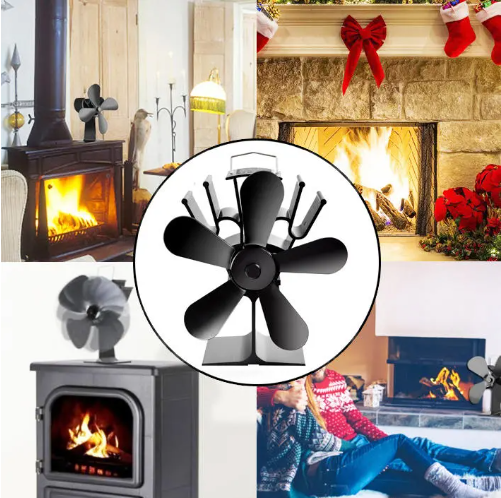 The Fireplace Fan Wood Burner Stove with chimney draft reducer