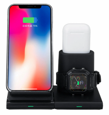 HX™ Fast Rechargeable 3 in 1  Wireless Charger Dock Pad Stand Holder