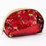 Set of 3 Magic Sequin Storage Pouches in Red