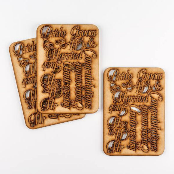 Set of 42 Laser Cut Celebratory Words