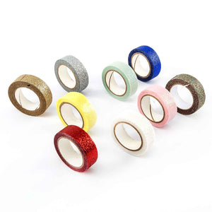 9 Reels of Self Adhesive Glitter Tape