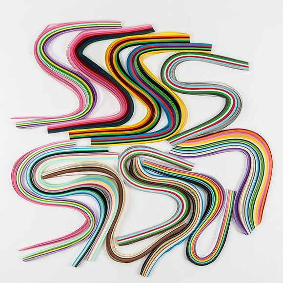 Quiling bumper paper pack: 13 packs of 5mm quilling strips.