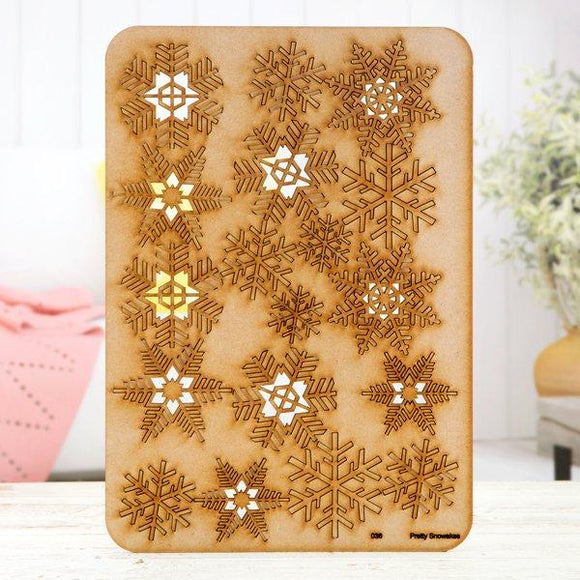 Pretty Gets Gritty - MDF A4 Grab Sheets - Pretty Snowflakes