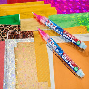 100 Sheets of Transfer Foil and 2 Glue Pen Kit